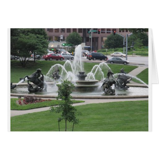 Kansas City Plaza fountain Card