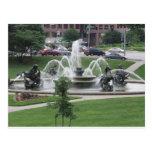 Kansas City Plaza fountain Postcard