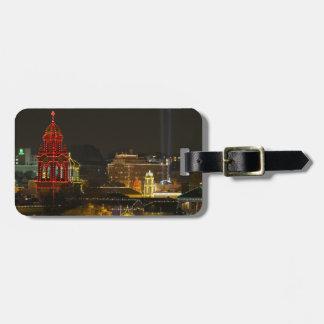 Kansas City Plaza Lights Bag Tag