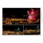 Kansas City Plaza Lights Collage, Fireworks Greeting Cards