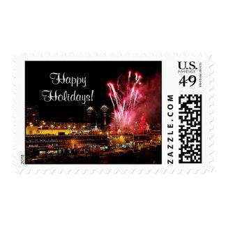 Kansas City Plaza Lights, Fireworks Postage