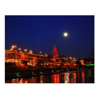 Kansas City Plaza Lights Under a Full Moon Post Card
