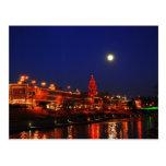 Kansas City Plaza Lights Under Full Moon Postcards