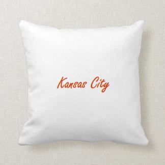 Kansas City Red and Gold Throw Pillows