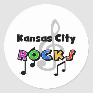 Kansas City Rocks Classic Round Sticker