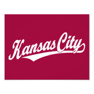Kansas City script logo in white distressed Announcement