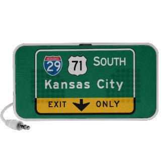 Kansas City, señal de tráfico del MES Laptop Altavoces