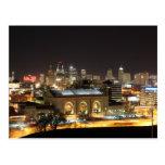 Kansas City Skyline at Night Postcard
