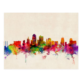 Kansas City Skyline Cityscape Postcard