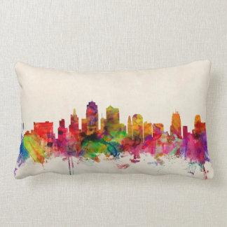 Kansas City Skyline Cityscape Throw Pillows