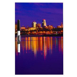 Kansas City Skyline Dry-Erase Board
