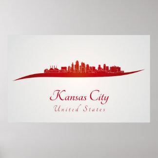 Kansas City skyline in network Poster