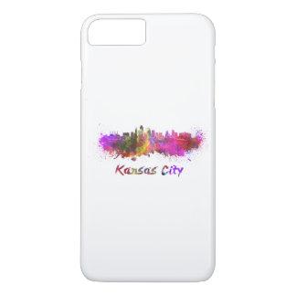 Kansas City skyline in watercolor iPhone 8 Plus/7 Plus Case