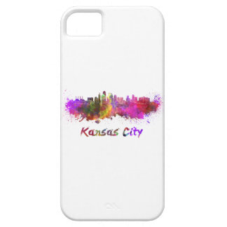 Kansas City skyline in watercolor iPhone SE/5/5s Case