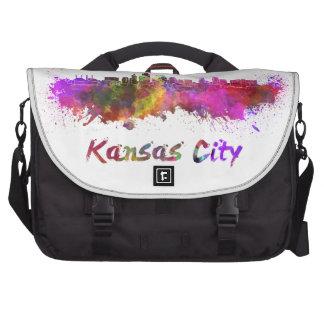 Kansas City skyline in watercolor