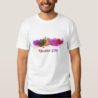 Kansas City skyline in watercolor Shirts