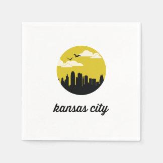 Kansas City skyline Paper Napkin