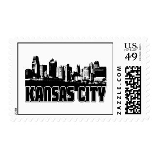 Kansas City Skyline Postage