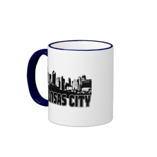 Kansas City Skyline Ringer Coffee Mug