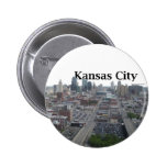 Kansas City Skyline with Kansas City in the Sky 2 Inch Round Button