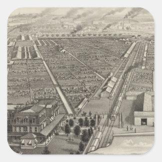 Kansas City Stock Yards, Kansas City, Kansas Square Sticker