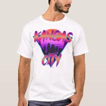 Kansas City Synthwave Design T-Shirt