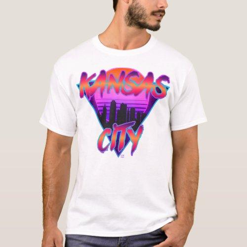 Kansas City Synthwave Design T_Shirt