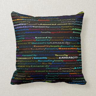 Kansas City Text Design I Throw Pillow