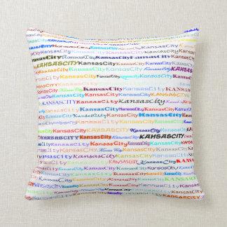 Kansas City Text Design II Throw Pillow