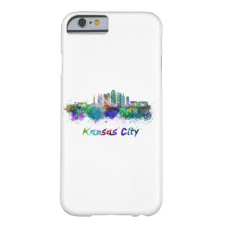 Kansas City V2 skyline in watercolor Barely There iPhone 6 Case