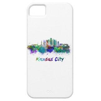 Kansas City V2 skyline in watercolor iPhone SE/5/5s Case