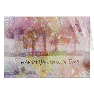 Kansas City Valentine, Couple at Shuttlecock Card