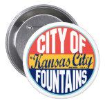 Kansas City Vintage Label 3 Inch Round Button