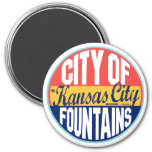 Kansas City Vintage Label Magnet