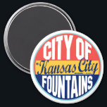 """Kansas City Vintage Label Magnet<br><div class=""""desc"""">Kansas City Vintage Label</div>"""
