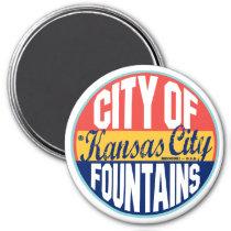 Kansas City Vintage Label Magnet