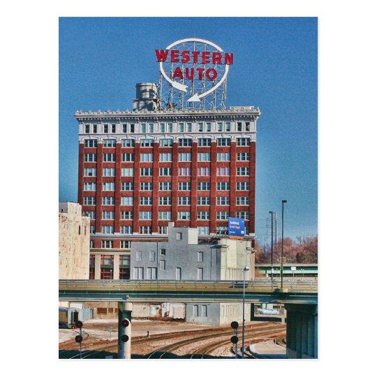 Kansas Citys Western Auto Sign Postcard Zazzlecom