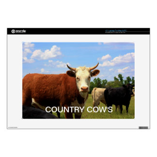 "Kansas Country Cow's Skin For 15"" Laptop"