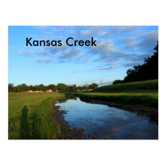 Kansas Country Creek POST CARD