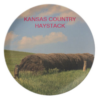 Kansas Country Hay Stack Plate