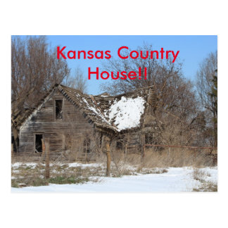 Kansas Country House Post Card