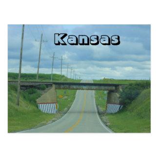 Kansas Country Rail Road Bridge Post Card