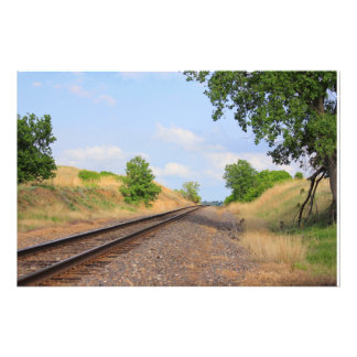 Kansas Country Railroad Tracks PHOTO ENLARGEMENT