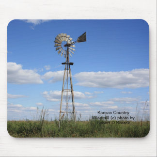 Kansas Country Windmill Mouse Pad