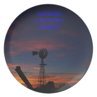 Kansas Country Windmill Plate