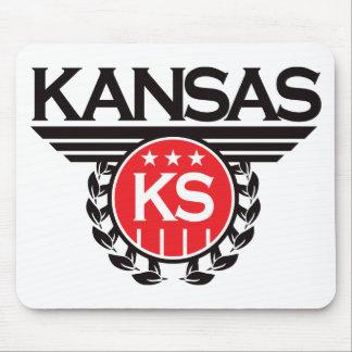 Kansas Crest Design Mouse Pad