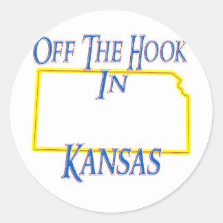 Kansas - del gancho etiquetas redondas