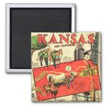 Kansas el estado del girasol imán de frigorifico
