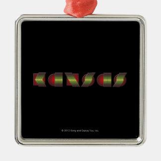 KANSAS (el punto de sabe los colores de vuelta) Adorno Navideño Cuadrado De Metal