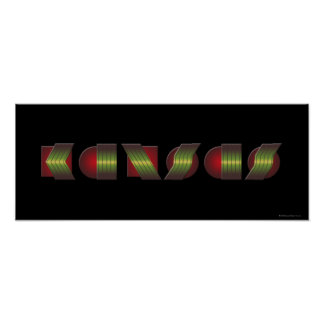 KANSAS (el punto de sabe los colores de vuelta) Poster